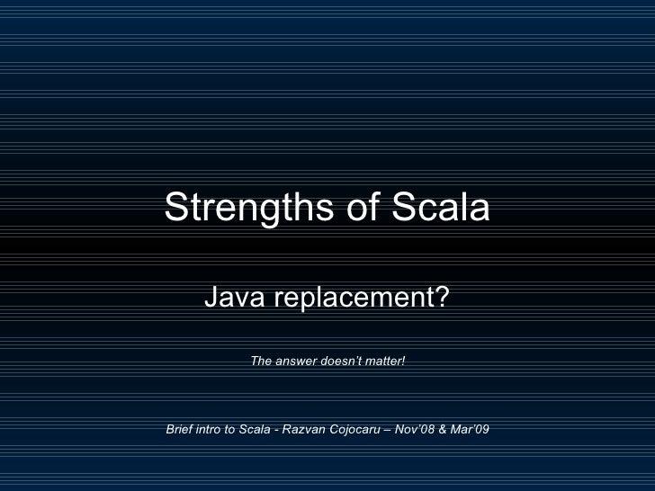 Scala - brief intro