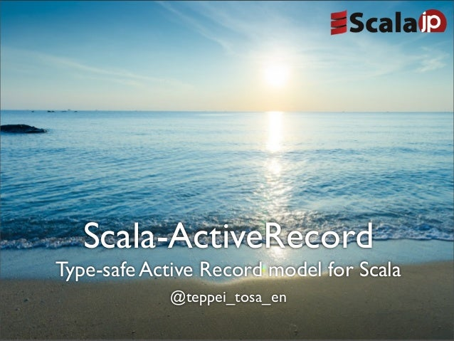 Scala active record