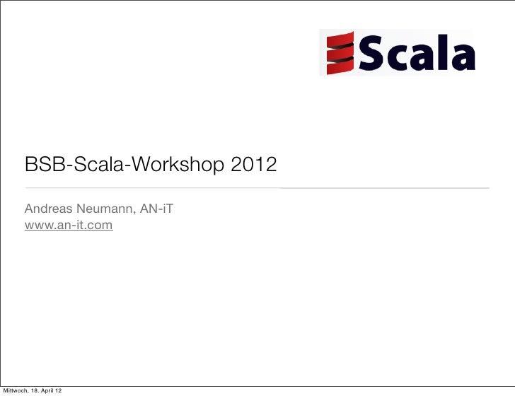 Scala Workshop