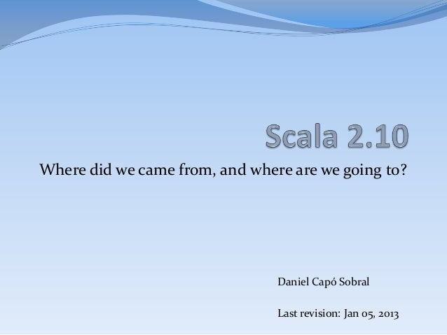 Scala 2.10.0 (english version)