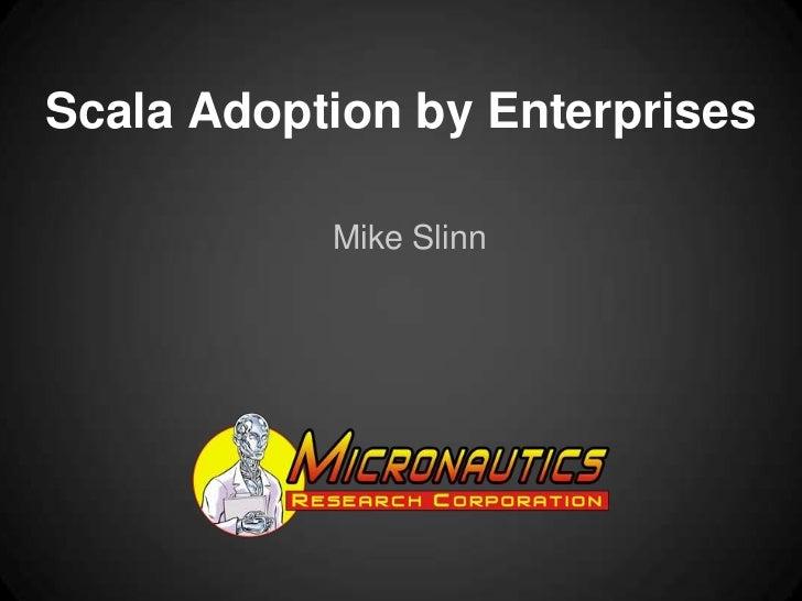 Scala adoption by enterprises