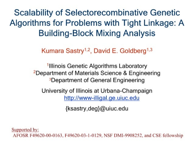 Scalability of Selectorecombinative Genetic Algorithms for Problems with Tight Linkage