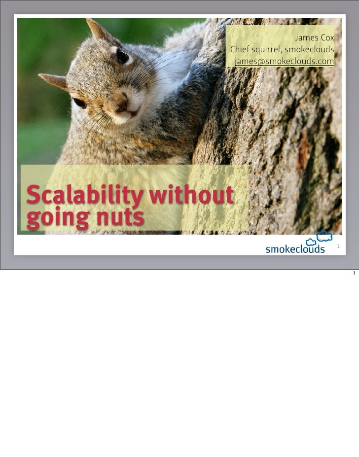 James Cox                   Chief squirrel, smokeclouds                    james@smokeclouds.com     Scalability without g...