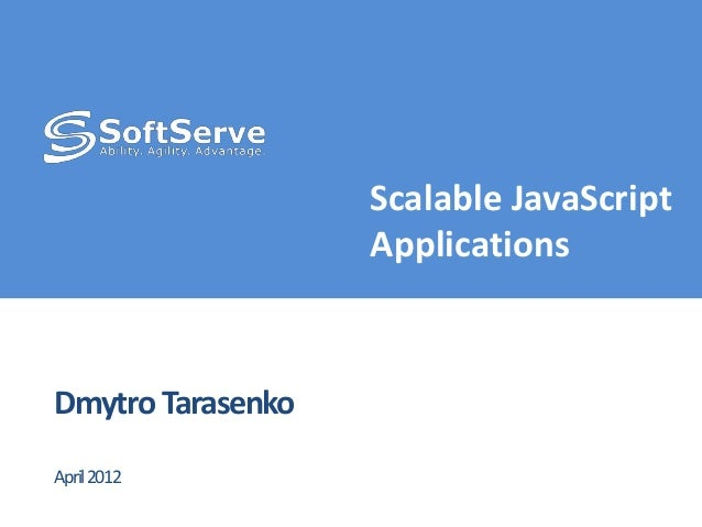 Scalable java script applications