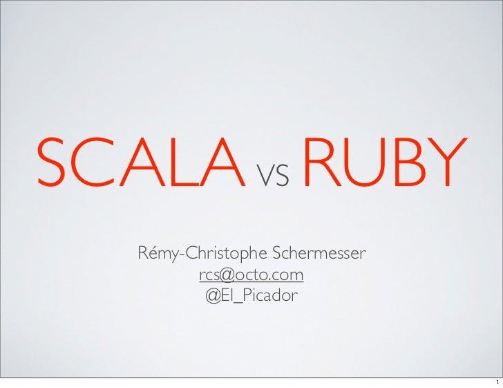 Scala vs Ruby