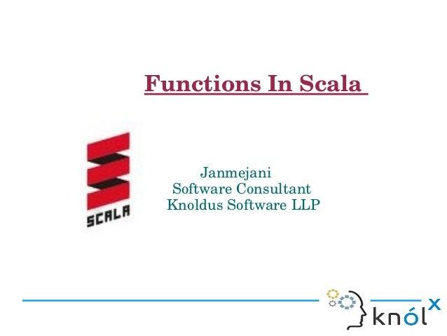 Scala functions