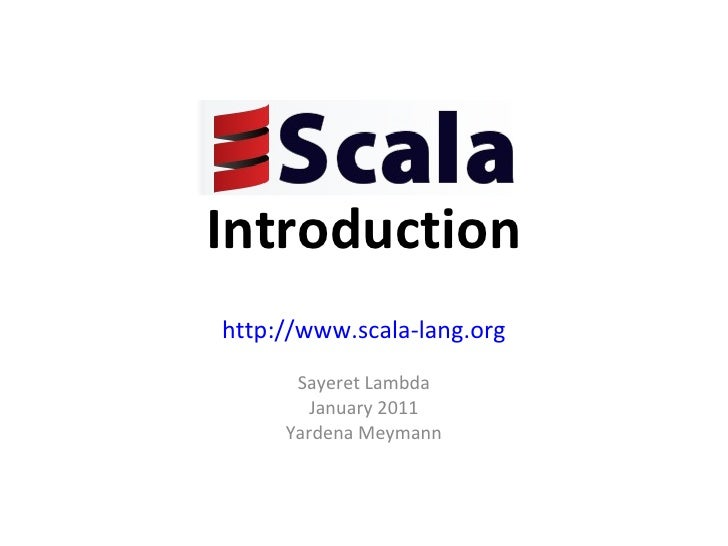 Scala introduction