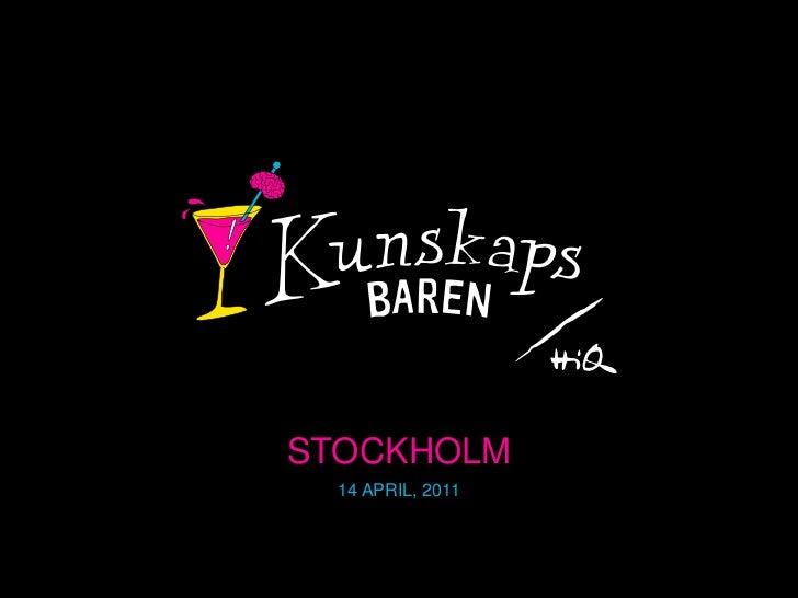 STOCKHOLM  14 APRIL, 2011