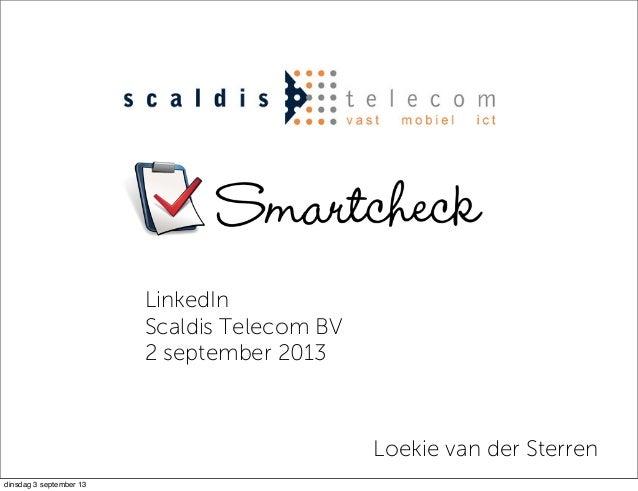 Scaldis telecom linkedintraining 2 9-2013
