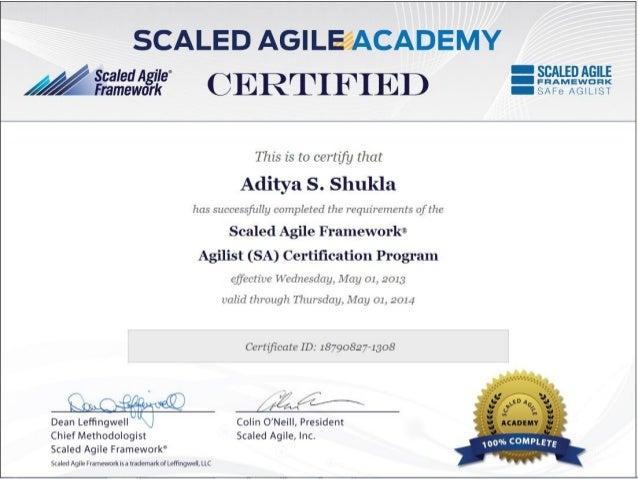 Scaled Agile Framework Agilist (SAFe Agilist)