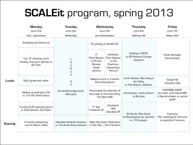 SCALEit Ignite Spring 2013