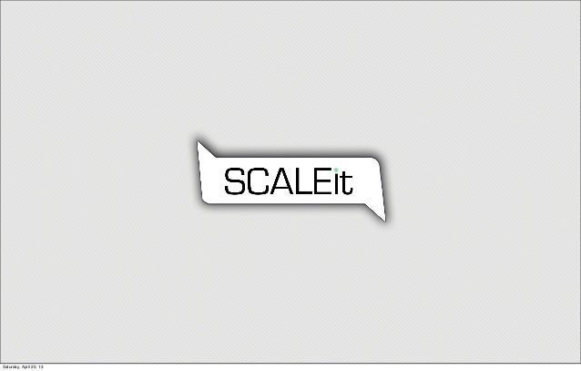 What is SCALEit - Inspire presentation