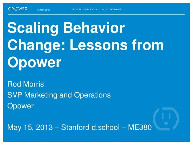 Scaling behavior change: Stanford d.school lecture - 15-5-13