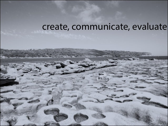 create, communicate, evaluate