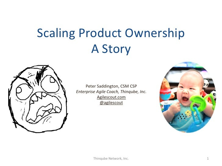 Scaling Product Ownership              A Story                                                                ...