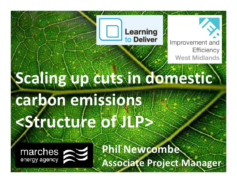 Scaling up cuts in domestic carbon emissions <Structure of JLP>            Phil Newcombe            Associate Project Mana...