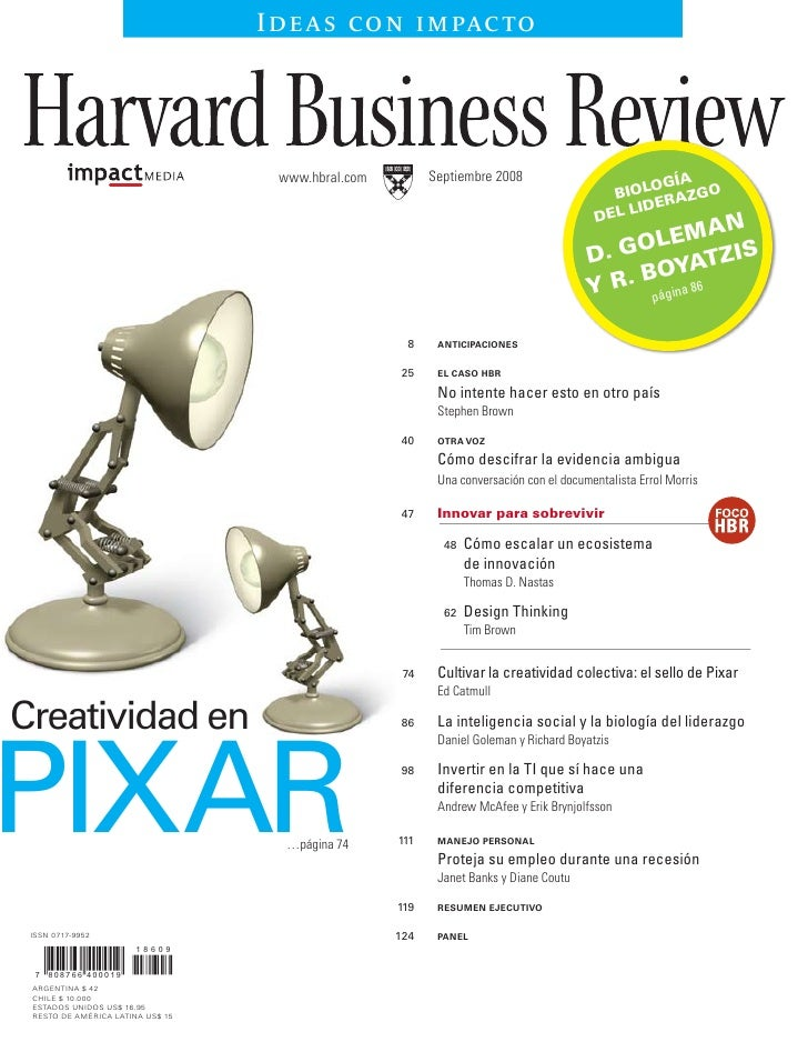 Scaling Up Innovation, L.America Edition, Harvard Business Review, In Spanish