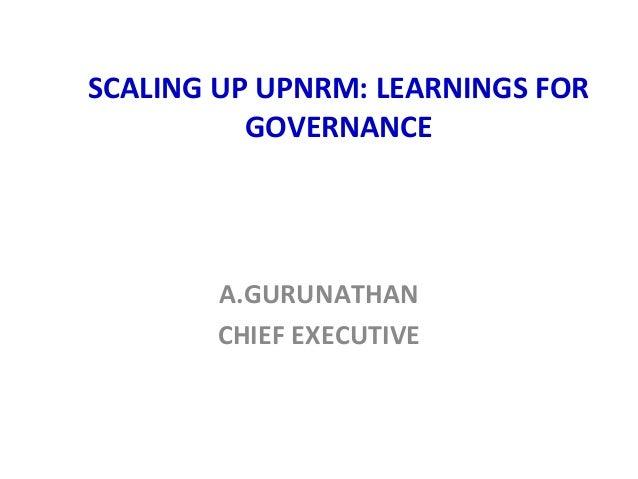 Scaling up Umbrella Program on Natural Resource Management (UPNRM)_NABARD_2013