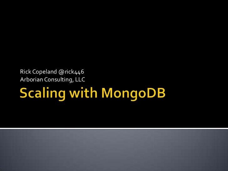 Scaling with MongoDB