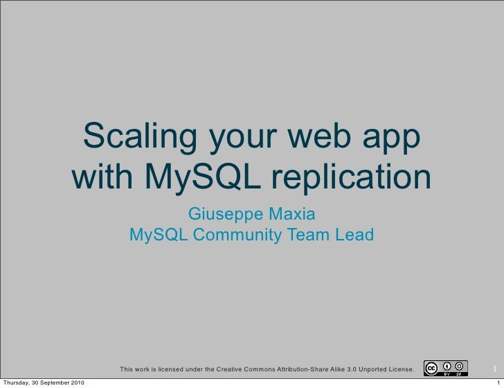 Scaling your web app with MySQL replication