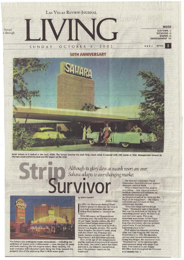Las Vegas Review Journal - Sunday Oct 6th 2002