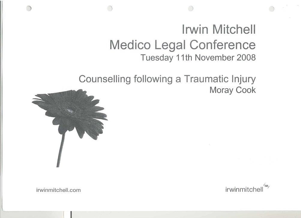 Counselling following a Traumatic Injury