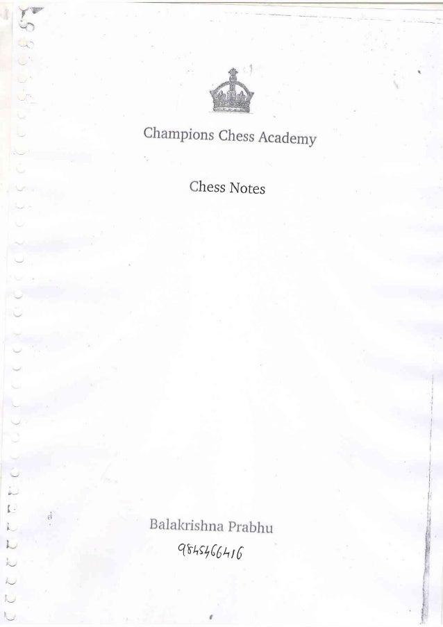 Balakrishna Prabhus chess Book