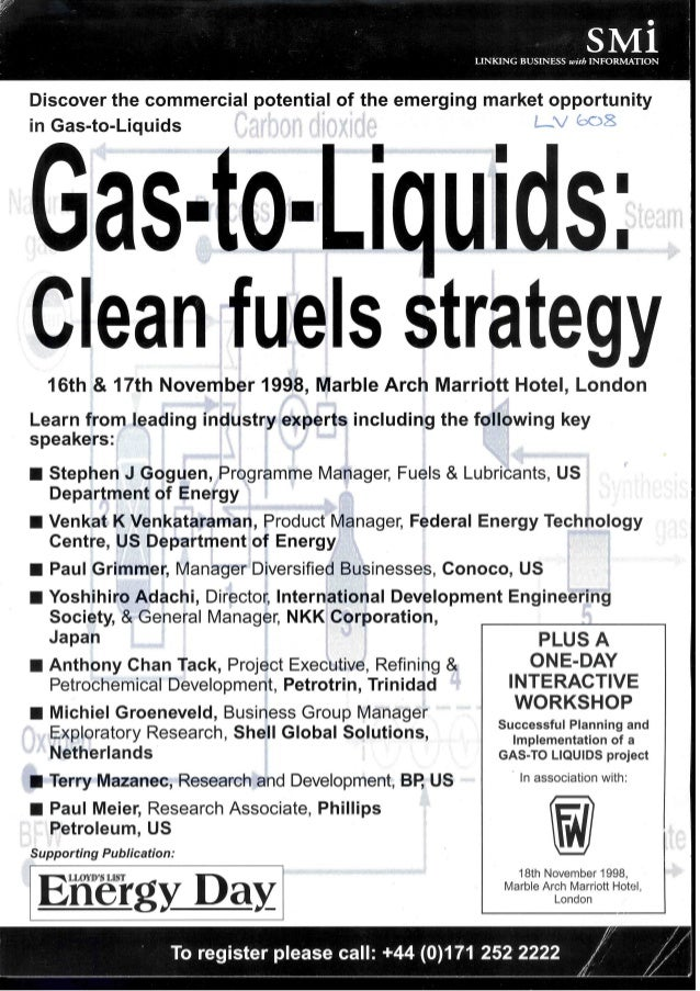 SMi Group's First Ever Gas to Liquids conference in 1998