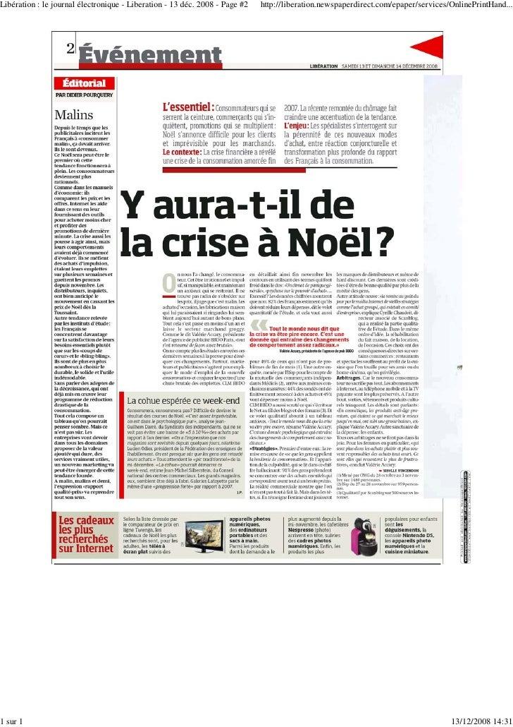 Libération : le journal électronique - Liberation - 13 déc. 2008 - Page #2   http://liberation.newspaperdirect.com/epaper/...
