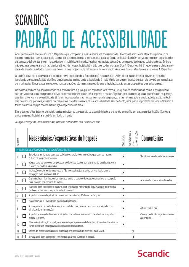 Protocolos de Acessibilidade do Rede Hoteleiro SCANDIC