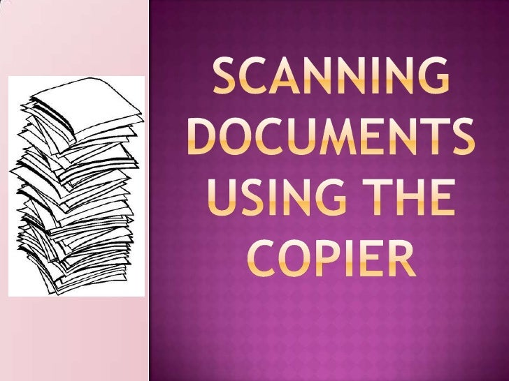Scanning Using the Copier