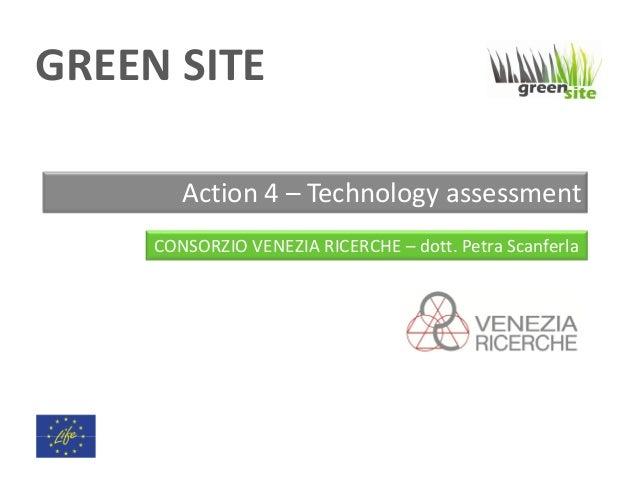I risultati del progetto Green Site