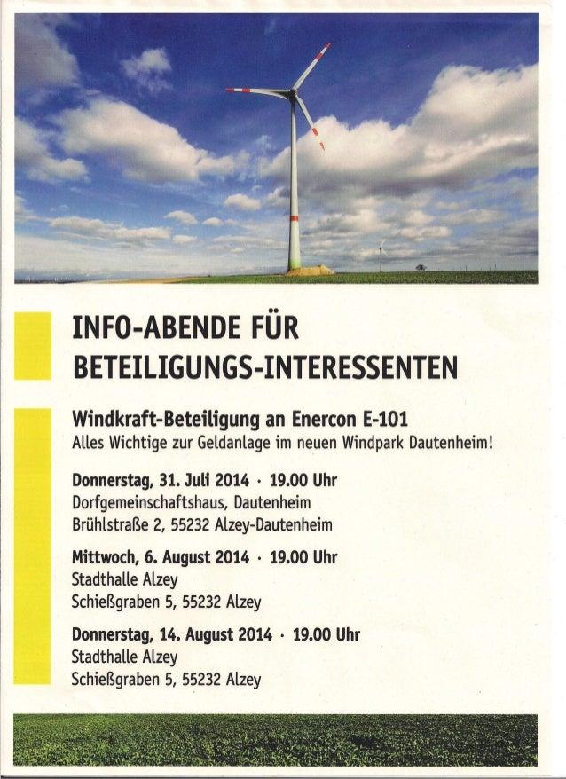Bürgerwindrad Dautenheim Infoveranstaltung