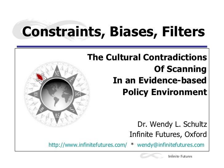 <ul><li>The Cultural Contradictions </li></ul><ul><li>Of Scanning </li></ul><ul><li>In an Evidence-based </li></ul><ul><li...