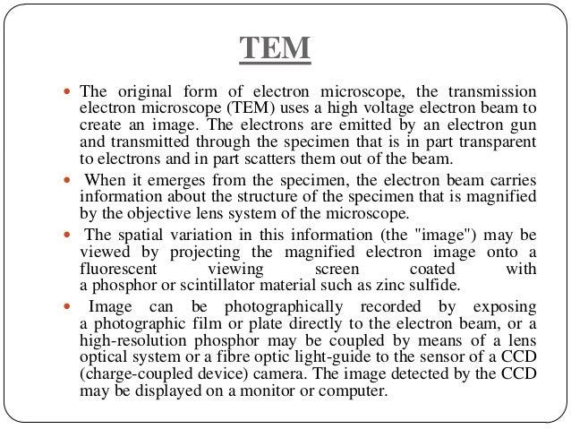 Transmission Electron Microscope Diagram