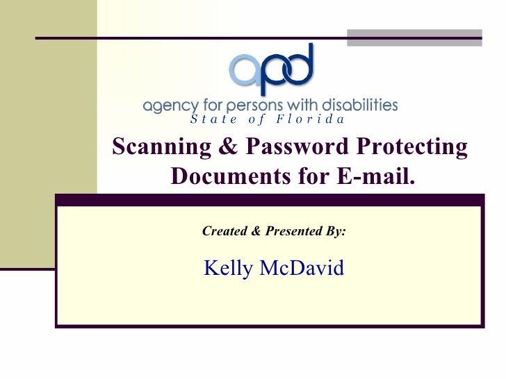 Scanning & Password Protecting Docs