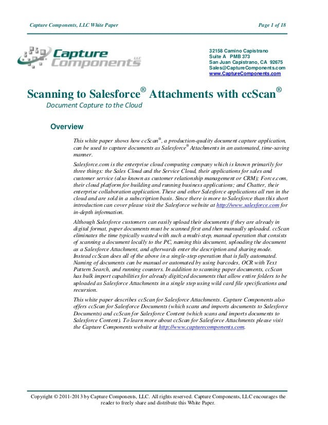 Capture Components, LLC White Paper                                                              Page 1 of 18             ...