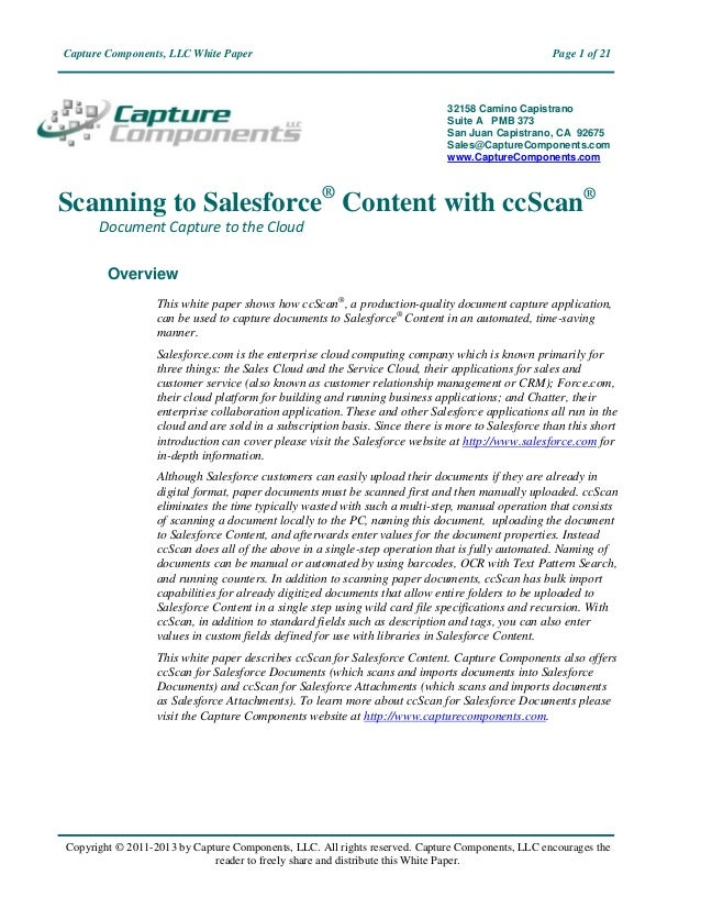 Capture Components, LLC White Paper                                                              Page 1 of 21             ...
