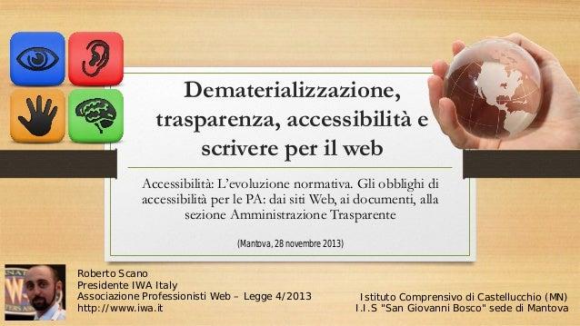Accessibilità e trasparenza nella scuola