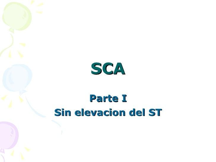 SCA Parte I Sin elevacion del ST