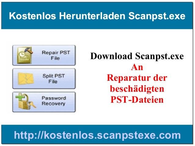 Kostenlos Herunterladen Scanpst.exe  Download Scanpst.exe An Reparatur der beschädigten PST-Dateien  http://kostenlos.scan...