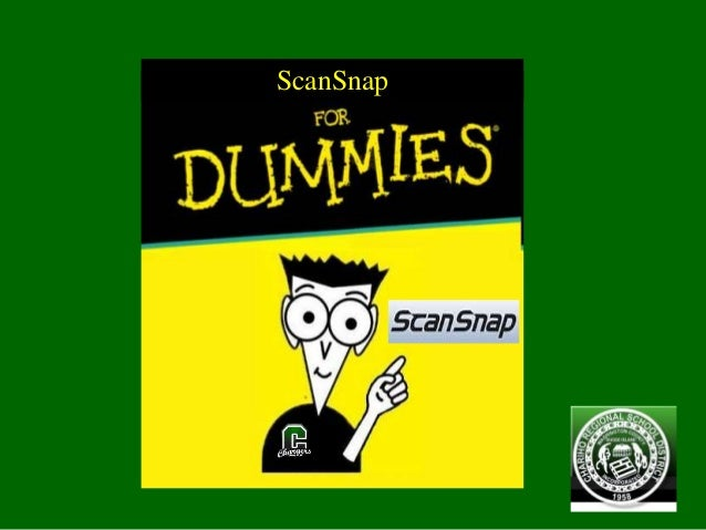 ScanSnap for Dummies
