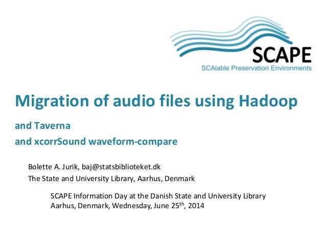 Bolette A. Jurik, baj@statsbiblioteket.dk The State and University Library, Aarhus, Denmark SCAPE Information Day at the D...