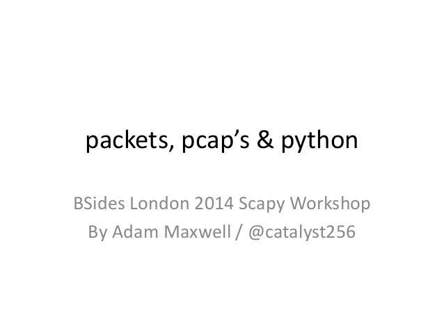 BSides London - Scapy Workshop