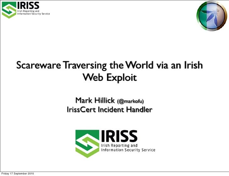 Scareware Traversing the World via Ireland
