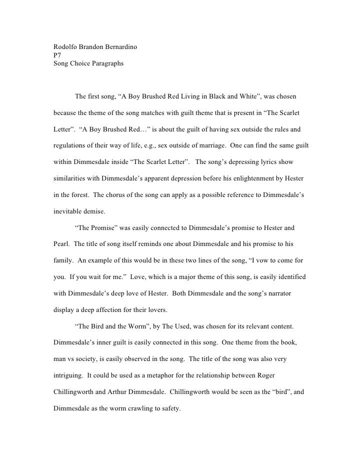 Essay on the scarlet letter critical essay the scarlet sin