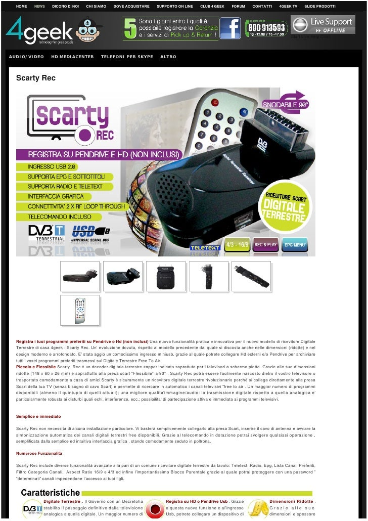 Decoder DVB-T PVR Media Player Scarty REC 4Geek