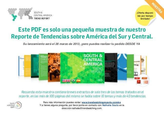 Reporte sobre América del Sur y Central (Mostra)