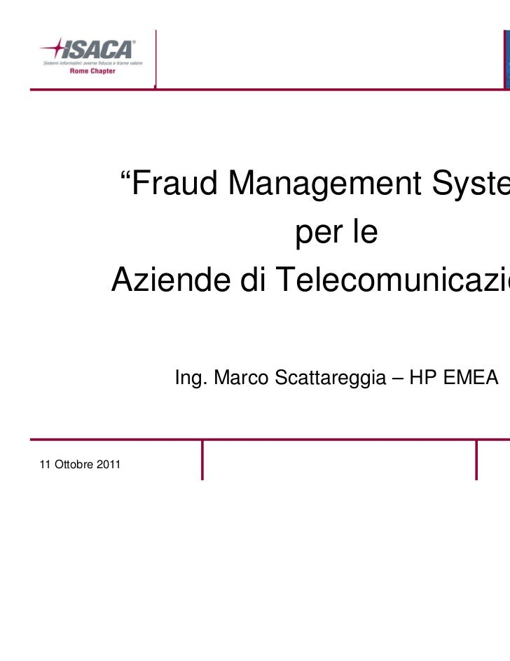 Fraud Management System - ISACA