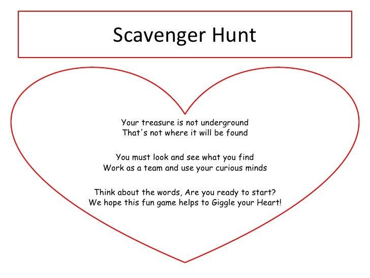 Scavenger Hunt Clues